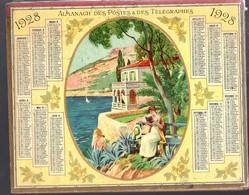 Calendrier Double Cartonnage 1928, Villa Art Déco, Bord De Mer. A L'intérieur 64 Pages Renseignements Postaux - Calendari