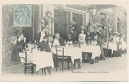 75018 - Paris -Terrasse Du Restaurant Robert 73 Rue Labat. - Arrondissement: 18