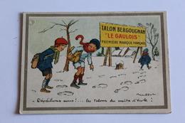 Calendrier Petit Format 1923 Talon Bergougnan Le Gaulois     10,5cm X 7,5 Cm - Calendriers