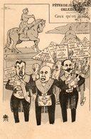Carte Satyrique. CPA. ORLEANS. Ceux Qu'on Invite Aux Fêtes De Jeanne D'Arc.  Rabier, Clémenceau, Roy. 1907. - Orleans