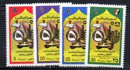 APR2250 - LIBIA LYBIA 1974 , Serie Yvert  N. 516/519  ***  Rivoluzione - Libia