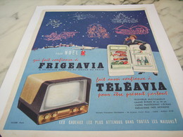 ANCIENNE PUBLICITE POUR NOEL  FRIGO FRIGEAVIA 1956 - Advertising