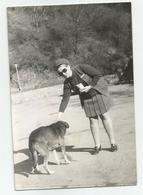 Woman And Dog Pose For Photo Hy431-227 - Anonymous Persons