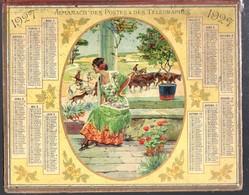 Calendrier Double Cartonnage 1927, Belle Espagnole Et Manade De Toros - Calendriers