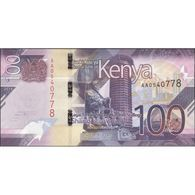 TWN - KENYA NEW - 100 Shillings 2019 Prefix AA UNC - Kenia