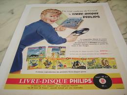 ANCIENNE  PUBLICITE LIVRE DISQUE  DE PHILIPS  1956 - Music & Instruments