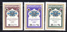 APR2252 - LIBIA LYBIA 1975 , Serie Yvert  N. 533/535  ***   Lavoro - Libia