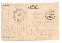 3325/ Cantons De L'Est CP Fantaisie Càp Eupen 22/3/1916 Censure Eupen PK Befördern > Militaire Jülich - Oorlog 14-18