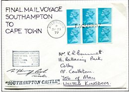 Ascension 1977 Union Castle Mail - Southampton To Capetown Final Voyage Paquebot Cover - Ascension