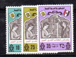 APR2254 - LIBIA LYBIA 1975 , Serie Yvert  N. 540/542  ***   Libro - Libia