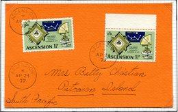 Ascension 1979 Postcard To Pitcairn Island, South Pacific - Ascension (Ile De L')