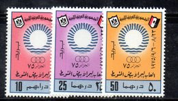 APR2256 - LIBIA LYBIA 1975 , Serie Yvert  N. 545/547  ***  Sport - Libia