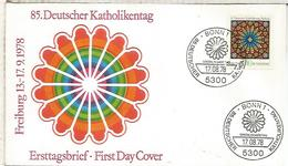 ALEMANIA FDC BONN 1978 DIA RELIGION CATOLICA - Cristianismo