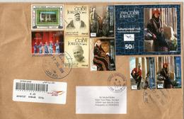 Belle Lettre Recommandée De Amman, Série + BF Costumes, Adressée Andorra,avec Timbre à Date Arrivée - Jordanie
