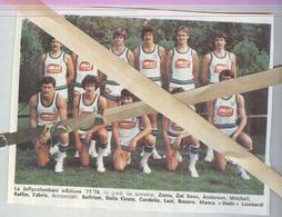 JOLLY COLOMBANI  1977...TEAM...PALLACANESTRO....VOLLEY BALL...BASKET - Trading Cards