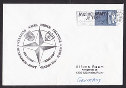Denmark: Cover To Germany, 1982, 1 Stamp, Cancel NATO Stanavforchan, German Navy Vessel, Military (traces Of Use) - Denemarken