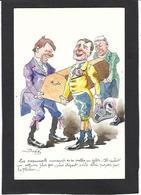 CPA Bobb Satirique Caricature Non Circulé Dessin Original Fait Main Rapport La Flèche - Satirical