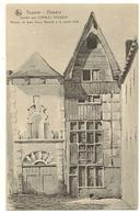 54 -Tournai  Disparu Dessin Par Charles Vasseur -Maison De Bois Vieux Marché à La Paille 1838 - Tournai