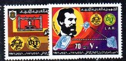 APR2262 - LIBIA LYBIA 1976 , Serie Yvert  N. 566/567  ***  MNH  Bell - Libia