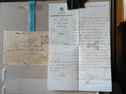 MONDOSORPRESA, LETTERA PIù BUSTA COMANDO DISTRETTO MILITARE MONDOVI, COMUNICAZIONI ANNO 1901 - Documenti