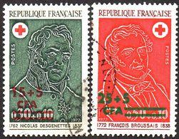 Réunion Obl. N° 412 Et 413  - Croix Rouge - Dr Desgenettes Et Broussais - Isola Di Rèunion (1852-1975)