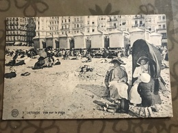 Carte Postale Ancienne (1926) Ostende - Vue Sur La Plage - Oostende
