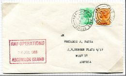 Ascension 1988 BFPO Forces Field Post Office 9987 RAF Cachet Cover To England - Ascension