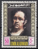 Umm Al Qiwain 1967 Mi. 201 Goya Autoritratto Quadro Dipinto Paintings Nuovo CTO - Moderni
