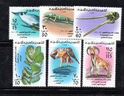 APR2266 - LIBIA LYBIA 1976 , Serie Yvert  N. 578/583  ***  MNH  NON FACILE - Libia