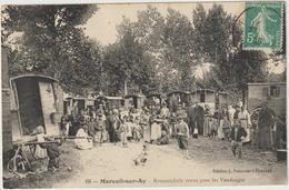 CPA   51  MAREUIL SUR AY ROMANICHELS VENUS POUR LES VENDANGES - Mareuil-sur-Ay