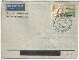 ALEMANIA 1936 CC VOLADA EN ZEPPELIN HINDENBURG 5 VUELO EUROPA NORTEAMERICA - Zeppelins