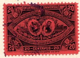 GUATEMALA - (République) - 1897 - N° 68 - 20 C. Rouge - (Exposition De L'Amérique Centrale) - Guatemala