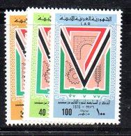 APR2269 - LIBIA LYBIA 1976 , Serie Yvert  N. 588/590  ***  MNH  Rivoluzione - Libia