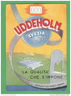 Svezia  Sweden UDDEHOLM Steelworks  1955 Acciai Filiale Vicenza Via S. Barbara - Advertising
