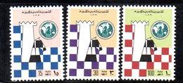 APR2270 - LIBIA LYBIA 1976 , Serie Yvert  N. 594/596  ***  MNH  Scacchi Chess - Libia