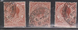GIBRALTAR Scott # 78 Used X 3 - KGV Definitive - Gibraltar