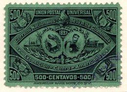 GUATEMALA - (République) - 1897 - N° 75 - 500 C. Vert Foncé - (Exposition De L'Amérique Centrale) - Guatemala