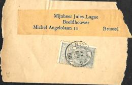 Belgique. TP 53  Fragment Bande D'imprimé Roulers > Bruxelles  1900 - 1893-1900 Barbas Cortas
