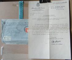 MONDOSORPRESA, LETTERA E BUSTA RACCOMANDATA, MINISTERO DELLA GUERRA, CONCORSO POSTI DI VICE SEGRETARIO ANNO 1934 - Documenti