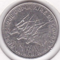 Republique Populaire Du Congo. 100 Francs 1972, En Nickel. KM# 1 - Congo (Republiek 1960)