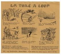 """Feuillet Plié Illustré 9 X 16 Cm """"La Tuile à Loup"""" Publicité Librairie Spécialisée, 35, Rue Daubenton, 75005 Paris - Publicités"""