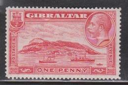 GIBRALTAR Scott # 96 MH - KGV & Ships - Gibraltar