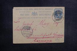 INDE - Entier Postal De Hyderabad Pour L 'Allemagne En 1900 - L 39571 - Inde (...-1947)