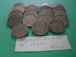 Pièces De 2 Frs - Münzen & Banknoten
