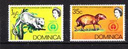 Dominica  - 1972. Opossum  E  Aguti. MNH - Roditori