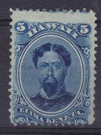 Hawaii 1866 Mi. 17     5 C King König Kamehameha V. MNG (2 Scans) - Hawaii