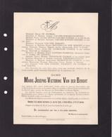CORBEEK-LOO KORBEEK-LO Marie VAN DER BORGHT Heverlé 1860 Saint-Gilles 1911 Familles FICHEFET DE COOMAN DE CLERCQ - Avvisi Di Necrologio