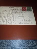 CP AFF PARIS 47 1924 Adressée Madame La Duchesse De GUISE LARACHE Maroc Espagnol TB - Marcophilie (Lettres)