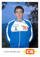 CARTE CYCLISME BERNARDO DEL PINO TEAM COLCHON CR 1986 - Cyclisme