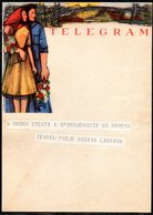 CZECHOSLOVAKIA TELEGRAM WEDDING BEST WISHES USED TÉLÉGRAMME TELEGRAMM TELEGRAMA TELEGRAMMA CZECH SLOVAKIA - Cecoslovacchia
